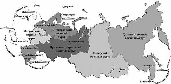 Структурно ВС РФ состоят из